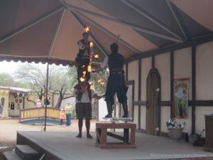 Team fire jugglers at Arizona Renaissance Festival