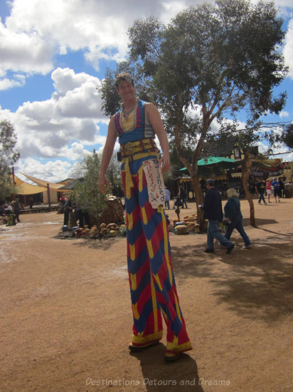 Man in stilts at Arizona Renaissance Festival