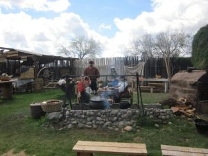 Outdoor kitchen at Arizona Renaissance Festival
