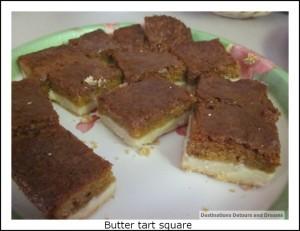 butter tart square