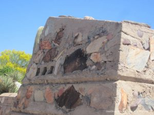 Brick at Taliesin West with angles mimicing nature