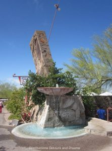 Fountain at entrance to Taliesin West