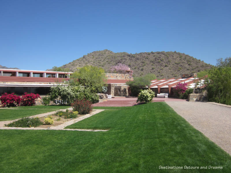 Back of Taliesin West in Scottsdale was once the entrance