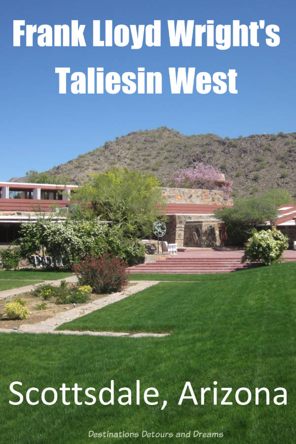 Taliesin West in Scottsdale Arizona, Frank Lloyd Wright's home and school, makes for a great tour #Scottsdale #Arizona #architecture #history #FrankLloydWright
