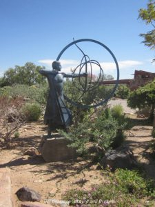 Sculpture by Heloise Crista at Taliesin West