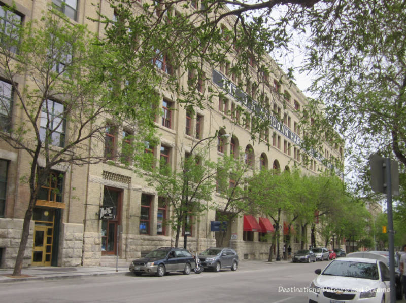 Ashdown Warehouse in Winnipeg's historic Exchange District - a walking tour of the East exchange area.