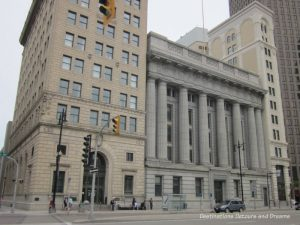 Banker's Row on Main Street in Winnipeg's historic Exchange District -a walking tour of the east Exchange area