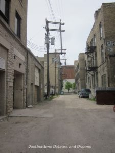 Hell's Alley in Winnipeg's historic Exchange District - a walking tour of the East exchange area.