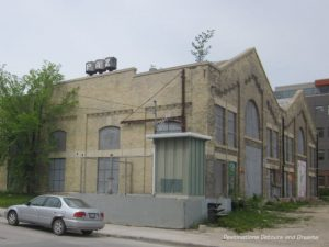 Jame Avenue Pumping Station in Winnipeg's historic Exchange District - a walking tour of the East exchange area.