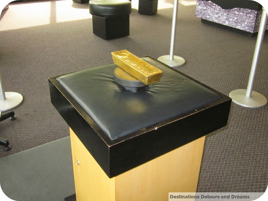 gold bar at Winnipeg Mint