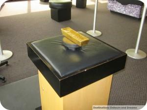 gold bar at Winnipeg Mint