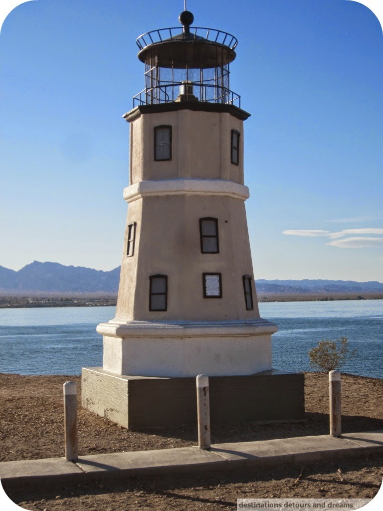 Lake Havasu Split Rock lighthouse replica