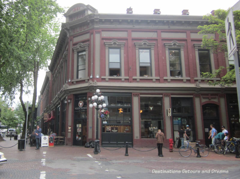 Byrnes Building in Gastown, Vancouver's oldest neighbourhood and a popular tourist site, a great area to wander around