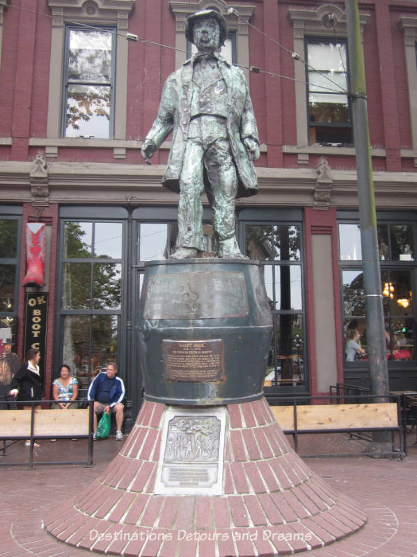 Gassy Jack statue in Gastown, Vancouver's oldest neighbourhood and a popular tourist site, a great area to wander around