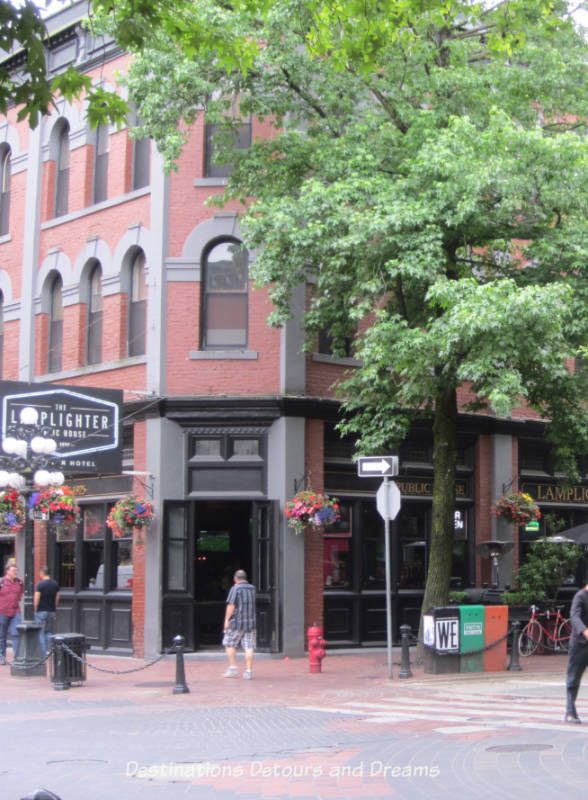 Lamplighter Pub in Dominion Hotel in Gastown, Vancouver's oldest neighbourhood and a popular tourist site, a great area to wander around