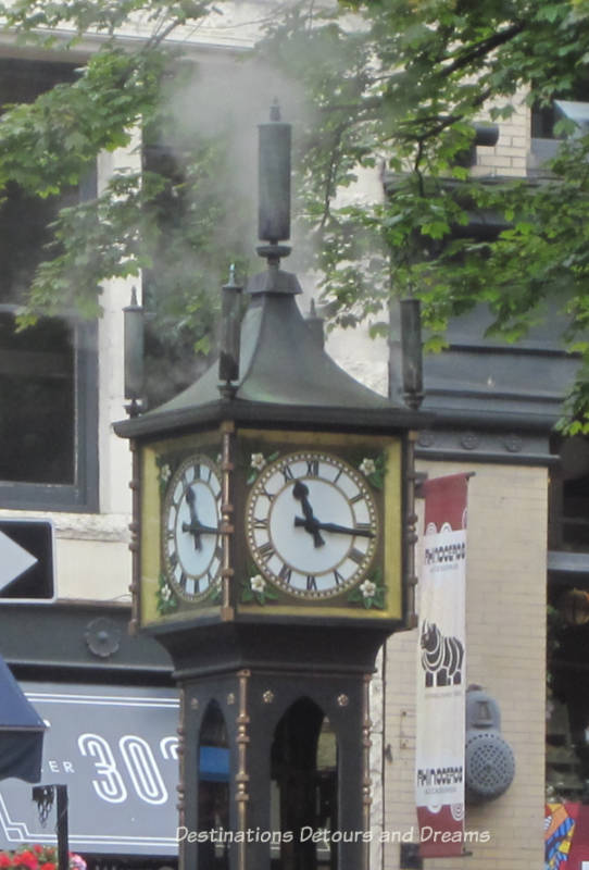 Steam clock in Gastown, Vancouver's oldest neighbourhood and a popular tourist site, a great area to wander around