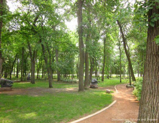 Leo Mol Sculpture Garden in Assiniboine Park, Winnipeg, Manitoba, Canada