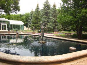 Fountain in Leo Mol Sculpture Garden