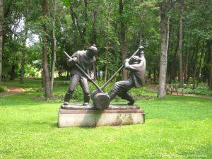 "Leo Mol ""Lumberjacks"" sculpture"
