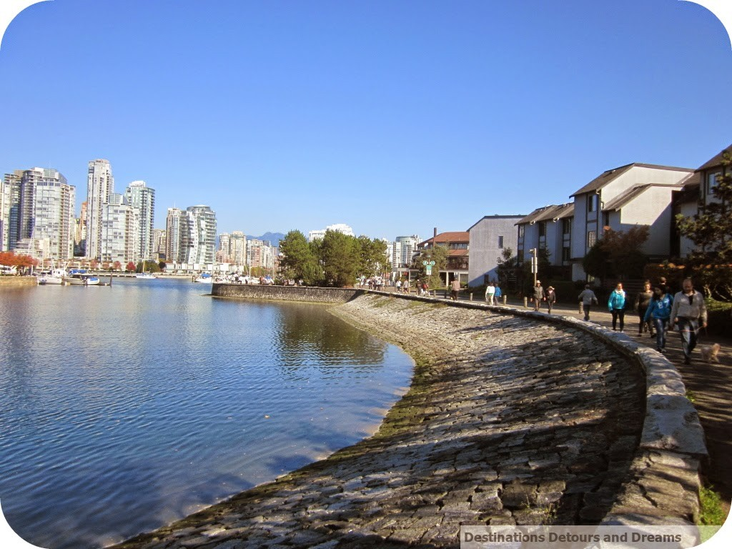 Paths along Vancouver seawall