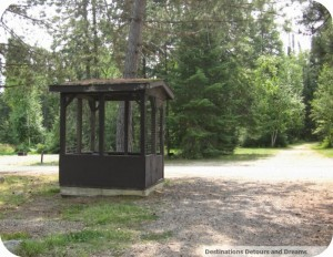 campground garbage enclosure