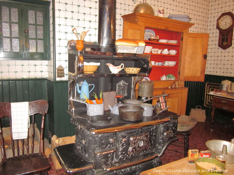 Kitchen in Dalnavert, Winnipeg, Manitoba. Museum musings; Have you ever wondered what it would be like to live in the places depicted in museums?