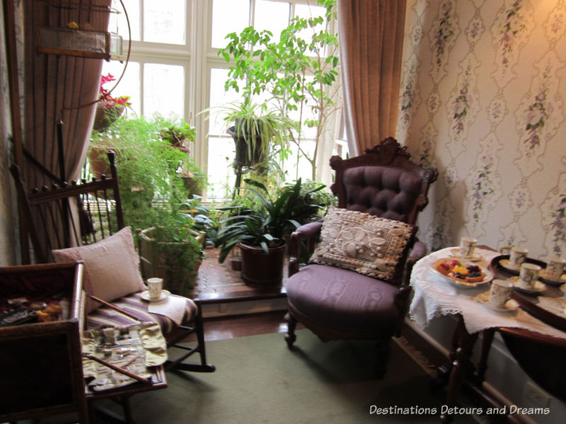 Sunroom at Dalnavert, Winnipeg, Manitoba. Museum musings; Have you ever wondered what it would be like to live in the places depicted in museums?