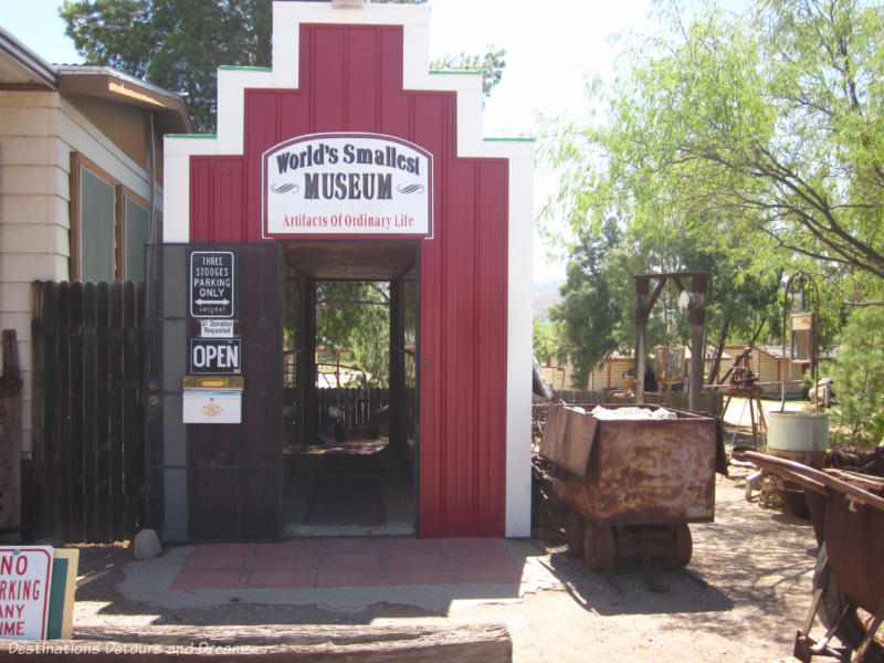 The Worlds's Smallest Museum at Superior, Arizona