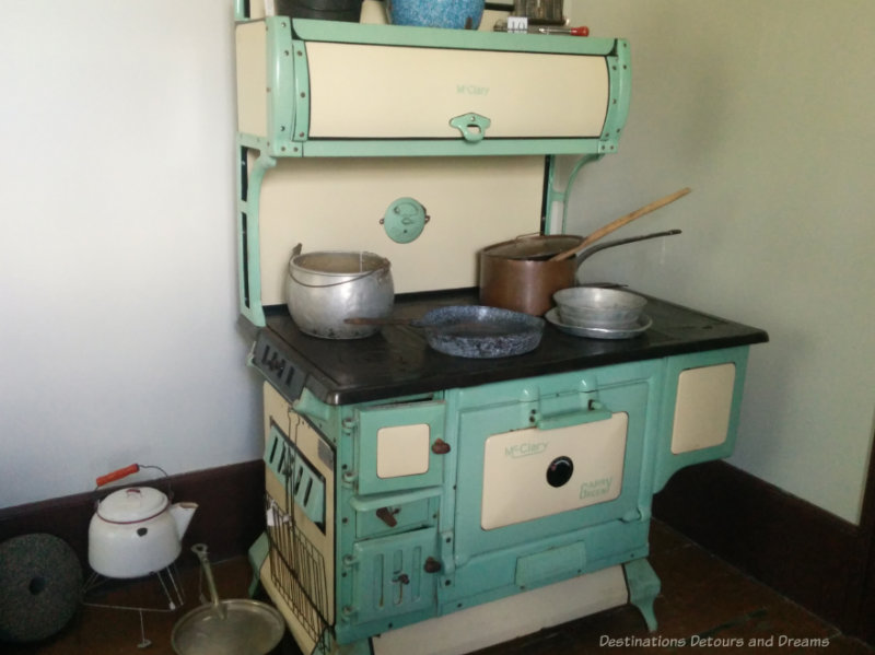Old metal wood stove