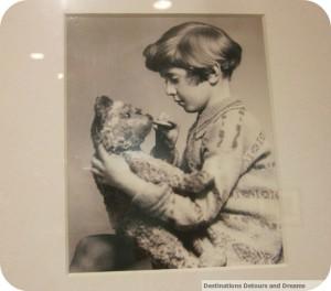 Christopher Robin and his teddy bear