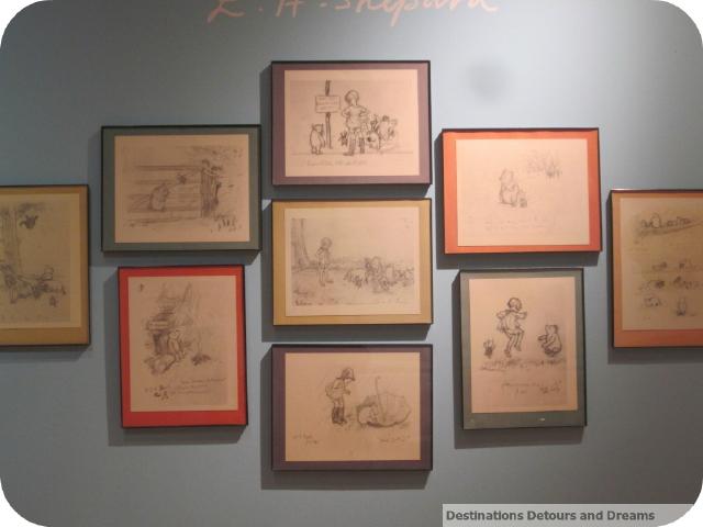 Winnie the Pooh preparatory drawings