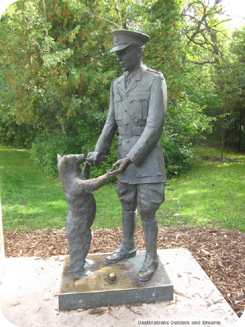 Pooh and Colebourn statue