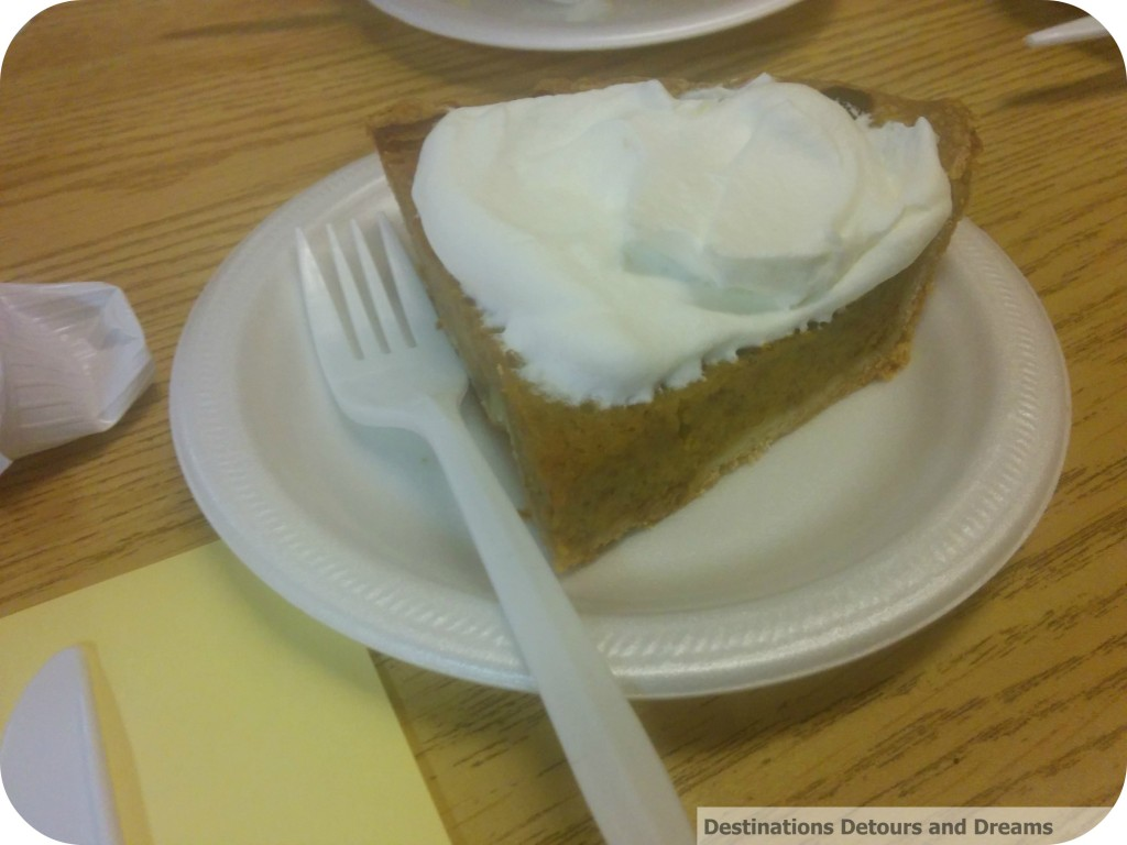 Manitoba fall supper pumpkin pie
