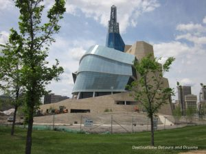 The architecture of the Canadian Museum for Human Rights give physical shape to the idea of an upward journey in the struggle for human rights. Winnipeg, Manitoba