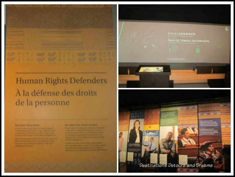 Rights Today gallery inside the Canadian Museum for Human Rights, Winnipeg, Manitoba