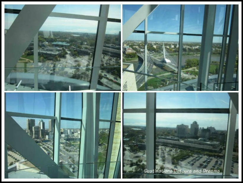 Views of Winnipeg from the Tower of Hope in the Canadian Museum for Human Rights, Winnipeg, Manitoba