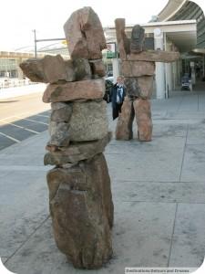 Toronto airport inukshuk