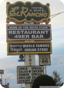 El Rancho Hotel sign