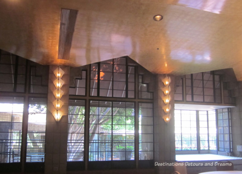 Gold Room on the Arizona Biltmore Jewel of the Desert tour: luxurious history and Frank Lloyd Wright connections in Phoenix