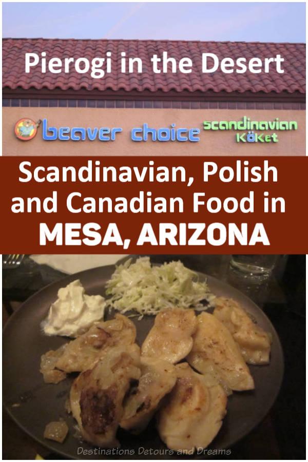 Eat All You Can Pierogi night at Beaver Choice, a Scandinavian, Polish, and Canadian kitchen in Mesa, Arizona #Mesa #Arizona #restaurant #pierogi