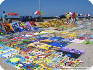 Art for sale along Havana beachfront