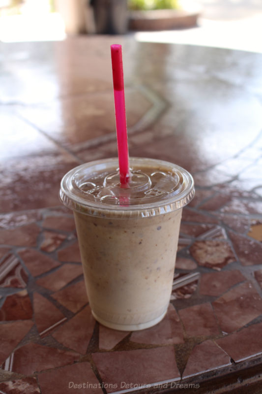 Date shake from Martha's Garden Date Farm in Yuma, Arizona