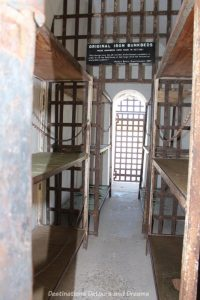 Iron bunk beds at Yuma Prison Museum in Yuma, Arizona