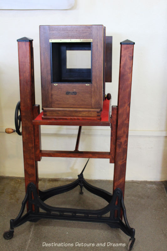 Old camera at Yuma Prison Museum