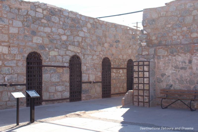 Cell blocks at Yuma Prison Museum
