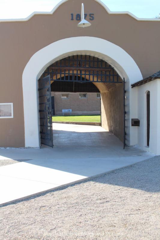 Sally Port, adobe entrance to Yuma Prison Museum