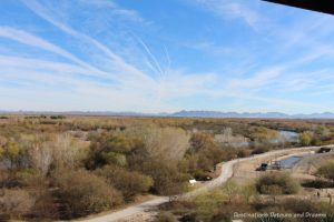 View from guard tower at Yuma Prison Museum