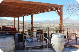 Patio area at Charron Vineyards