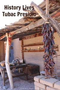 Tubac Presidio State Historic park, a museum in southern Arizona