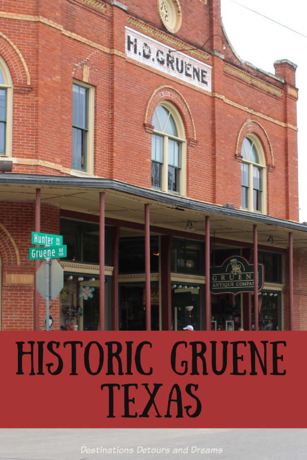 The historic town of Gruene, Texas is a fun day trip with shopping, wine tasting, dining, and scenic buildings #Texas #Gruene #history